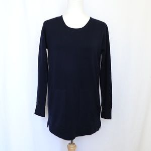 J. Crew  Dark Blue Merino Wool Pocket Sweater XS